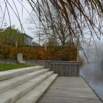 tuin aan water, modern, strak